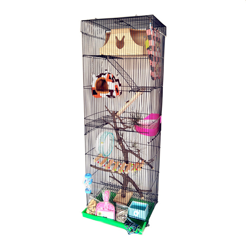 Three-story Dragon Cat Cage Golden Flower Demon Squirrel Cage Guinea-Rat   Big Villa Grand Dragon Cat Standard