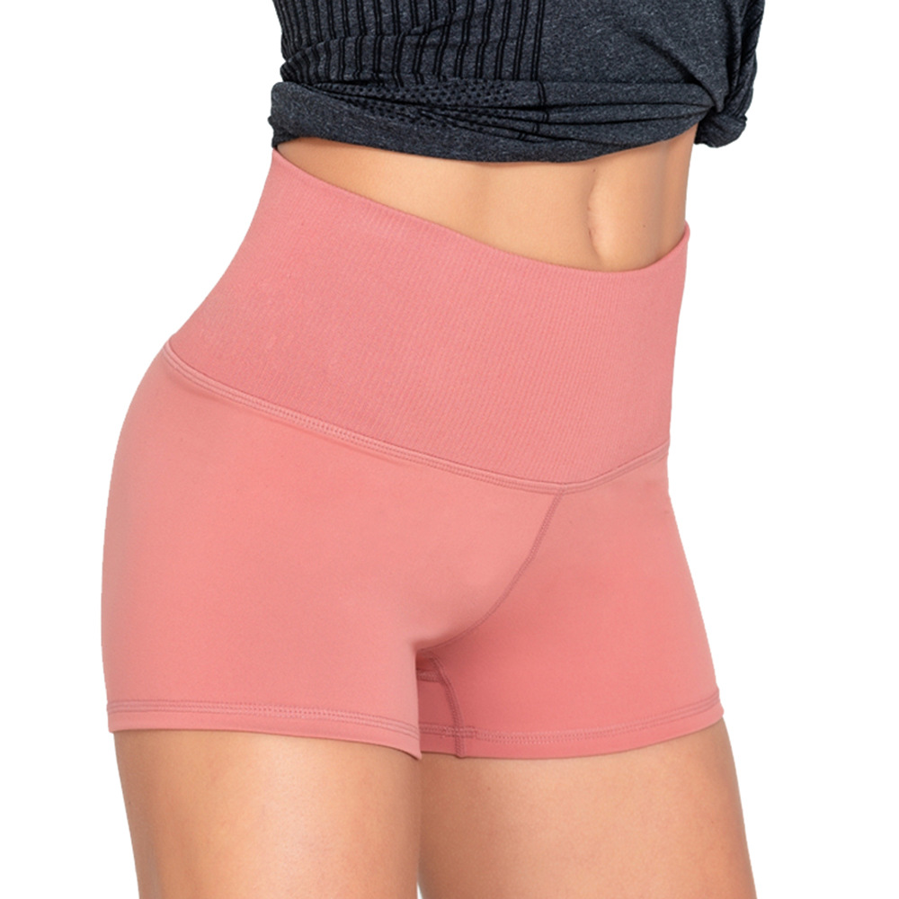 2019 New High Waist Hip Stretch Seamless Lady Shorts Exercise Fitness Peach Hip Shorts Tight Woman