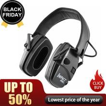 Earmuff tiro eletrônico anti-ruído impacto protetor de ouvido esporte ao ar livre amplificador de som fone de ouvido dobrável protetor auditivo