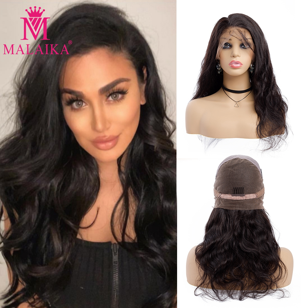 Human Hair Wigs With Baby Hair Wavy Pre Plucked Glueless Full Lace Wigs For Women Body Wave Brazilian Hair
