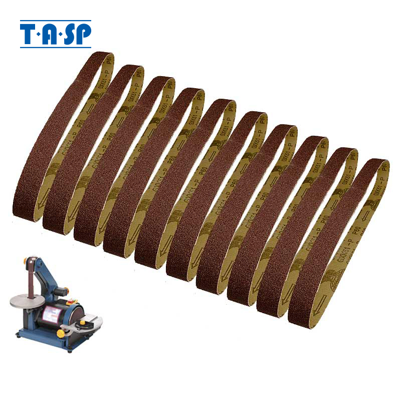 TASP 10pcs 25x762mm Abrasive Sanding Belt 1