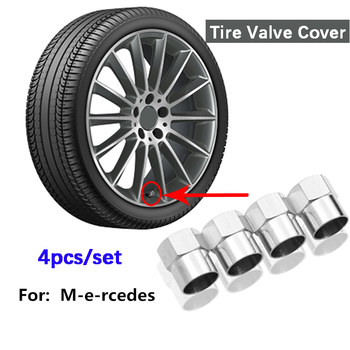 4pcs for Benz car tire valve cover metal air cap Mercedes-Benz W203 W204 W205 W176 E300 A B C M Class