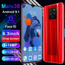 Mate35 6.3 Inch 4G Smartphone 6GB RAM 128GB ROM Water Drop Screen Mobile