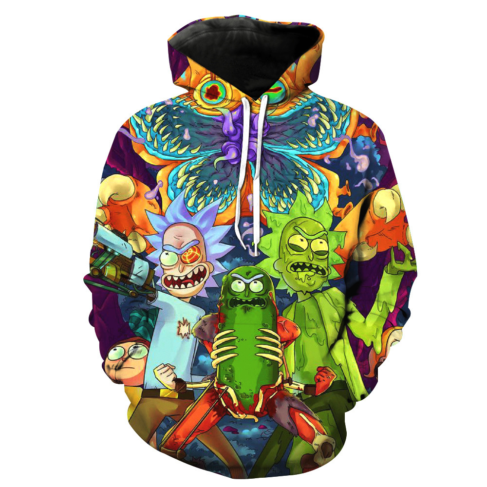 Rick And Morty 3D Printed Hoodie For Men And Women On The Street In Harajuku Casual Hooded Cartoon Costume