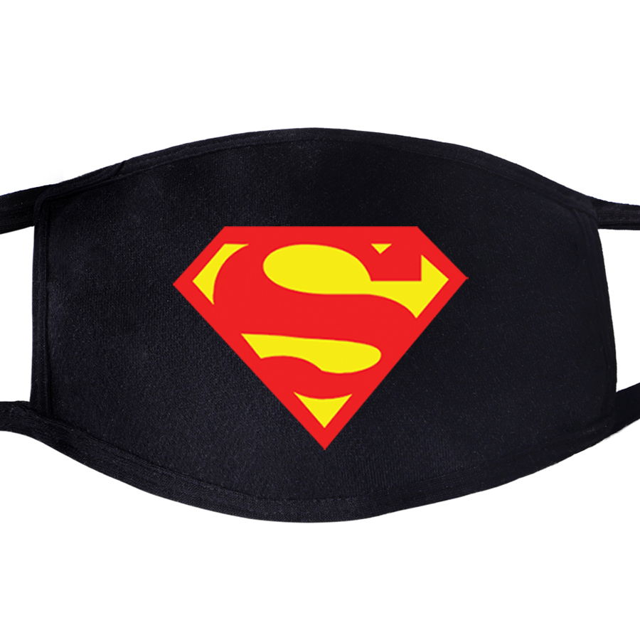 Superman Clark Kent Face Mask Mouth Fabric Anti Dust Unisex Black Muffle Dustproof Facial Protective Cover Masks