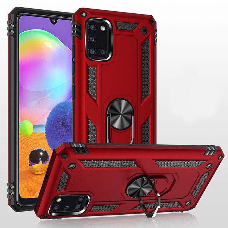 Противоударный армированный чехол для Samsung Galaxy A40 A30 A20 A10 A01 A12 A11 A21 A31 A41 M51 M31 M21 S10 Plus, чехол для телефона с кольцом-держателем