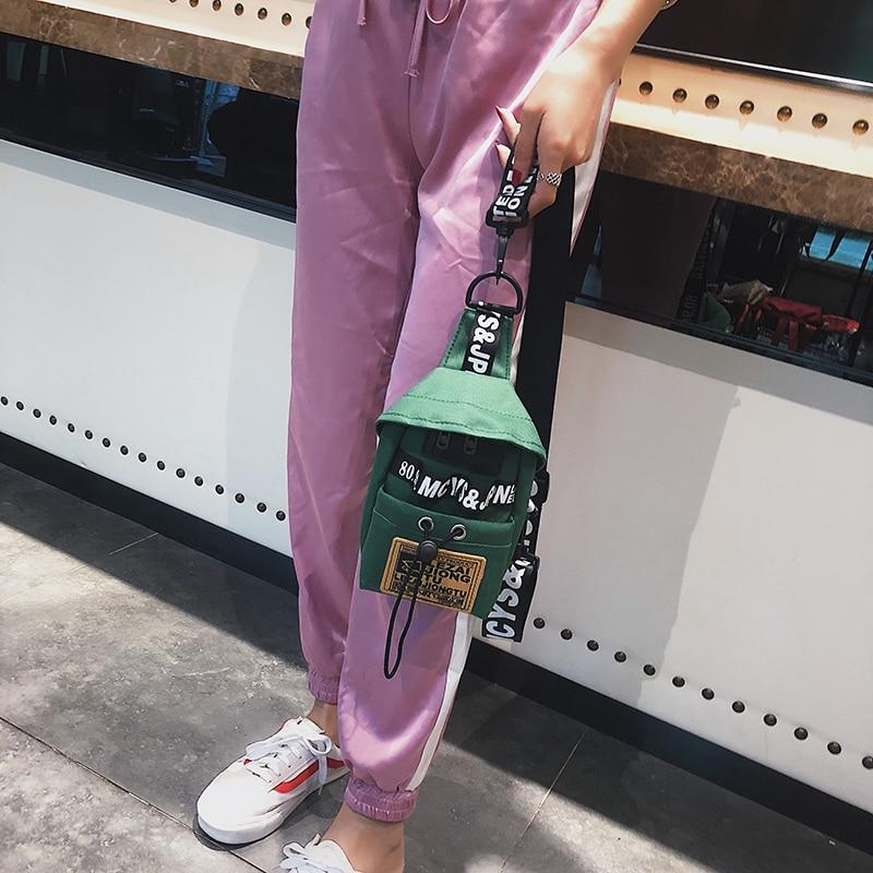 Новая женская многофункциональная поясная сумка, Женская поясная сумка, Холщовая Сумка для телефона, маленькая мини поясная сумка, крутая