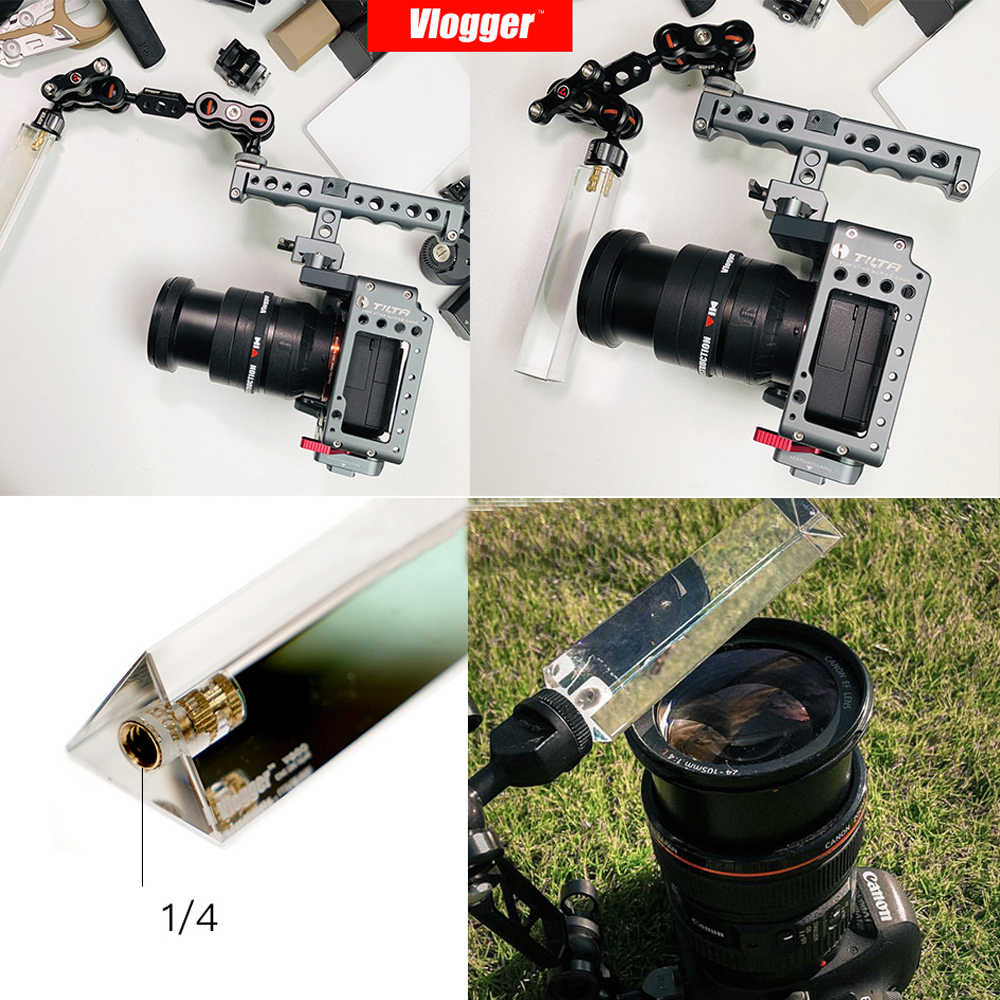 Vlog triangular lente filtro fotografia cristal magia filtro de luz cristal halo lente vidro óptico para câmera dslr filmadoras