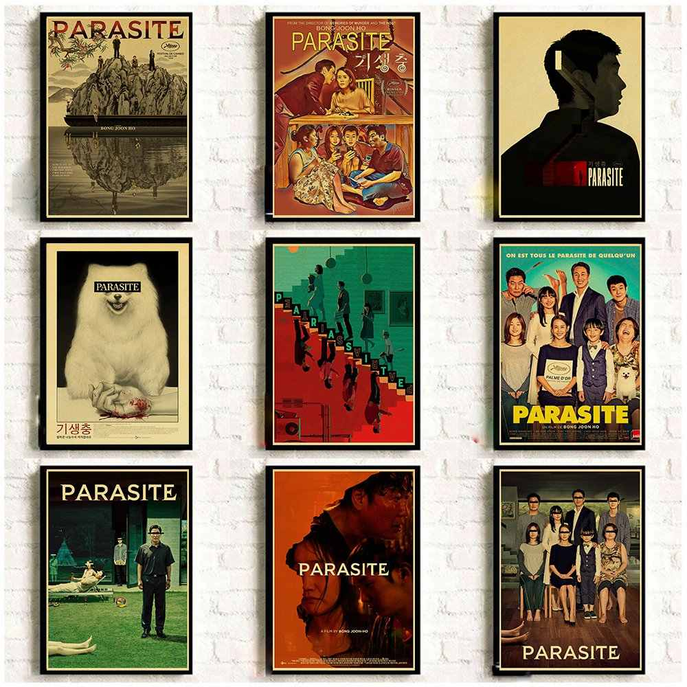 Korean Drama Parasite Poster Horror Tv Show Vintage Art Posters Home Room Decorative Wall Stickers Aliexpress