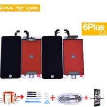 цены на For iphone 6 Plus LCD Display Touch Screen Digitizer Panel Pantalla monitor 6 PLUS LCD Assembly Complete  в интернет-магазинах