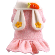 Dog-Coat Clothing Dress Puppy Cat Outfit Rabbit Girls Winter Princess Cute Wool for Carrot-Decor