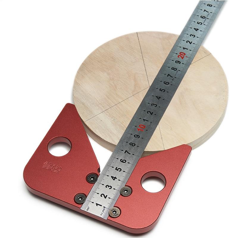 45 градусов угол круглый центр линия писец дерево правили плотник круглое сердце линейка Калибр центр искатель Деревообработка DIY инструмент