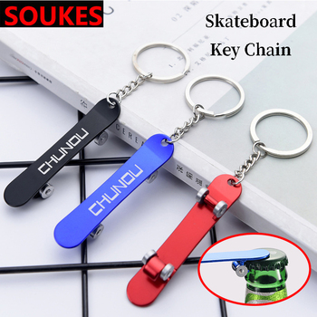 Skateboard Car Styling Bottle Opener Keychain For Audi A3 A4 B8 A6 Q5 C7 8v B5 Mercedes Benz W203 W204 W205 W124 W212 AMG image