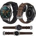 Кожаный ремешок для наручных часов Huawei Honor Magic Watch 2 46 мм, браслет для Huawei Watch GT2 GT 2 42 46 Honor Magic 2 Correa