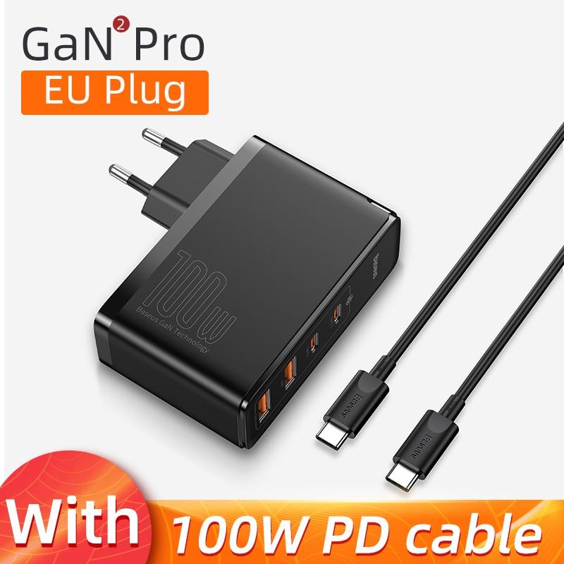 EU Plug 4 port Black