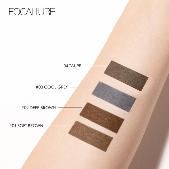 FOCALLURE Artist Sketch Eyebrow Pencil Waterproof Natural Long Lasting Eye Makeup Eye Brow Tint 4 Color Brows Makeup 4
