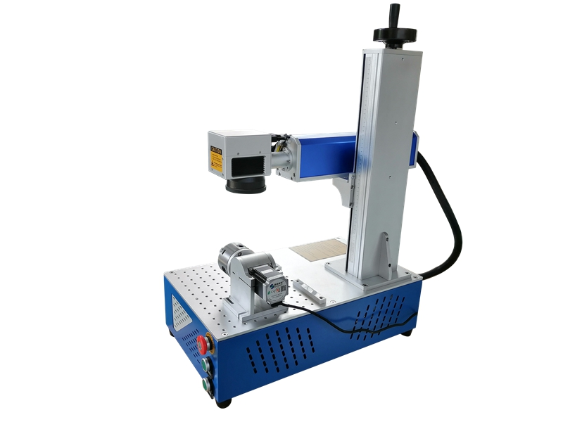 price difference PVC ABS ring name plate aluminum stainless steel fiber laser marking machine metal laser engraver with rotary