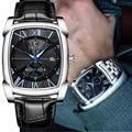 Benyar квадратные мужские часы Бизнес водонепроницаемые кварцевые кожаные Наручные часы Мужские часы hodinky erkek kol saati