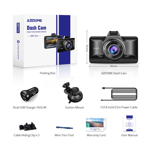 "Image 5 - AZDOME 3 ""M01 פרו רכב DVR IPS מסך 1080P כפול עדשת מצלמת מקף נהיגה מקליט ראיית לילה G חיישן לולאה הקלטת מצלמה רכב"