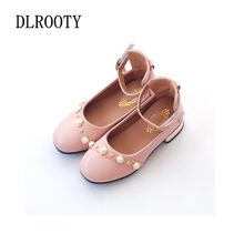 Children Shoes Buckle Low heeled Pearl Girl Kids Cute Casual Child Leather Soft Running Autumn Spring Loafers Sneakers(China)