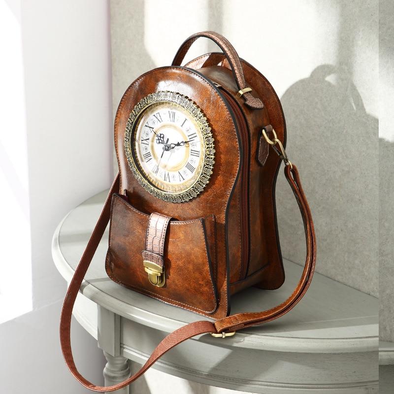 2019 New Shoulder Bag Female Creative Alarm Clock Bag Retro Shoulder Messenger Bag (no Battery)