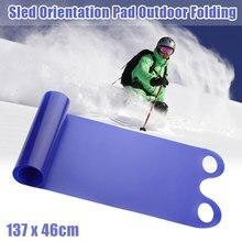Сверхмощный Зимний спорт Песок Трава Toboggan открытый складной Противоскользящий взрослых лыжный кататься на лыжах с ручкой детский коврик снег сани