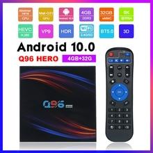 Q96HERO אנדרואיד 10.0 חכם הטלוויזיה Box Allwinner H616 Quad core UHD 4K מדיה נגן 4GB/32GB Bluetooth 5.0 LCD תצוגת שלט רחוק