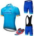 2018 Team ASTANA Cycling Clothing Set Mens Bicycle Maillot MTB Racing Ropa Ciclismo Summer Hombre Roupa Bike Jersey