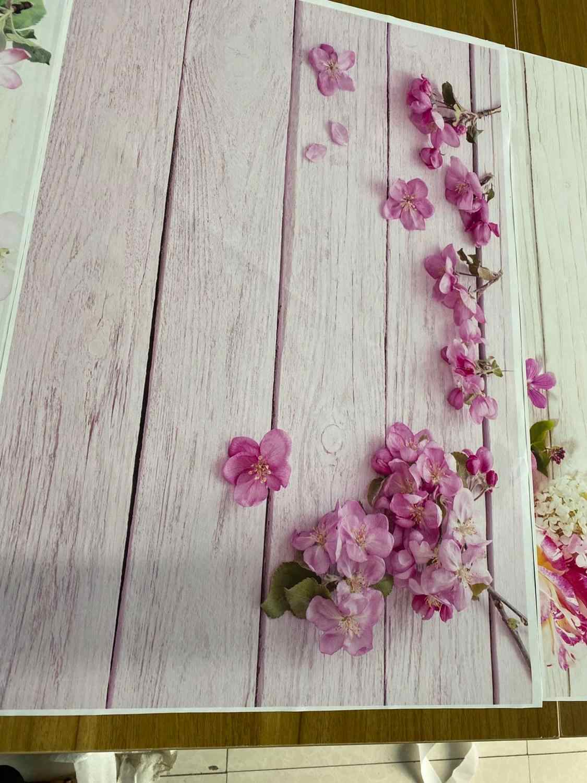 Zdjęcie drewna tło dla fotografii deska róża różowe tło z kwiatami 3D Pet Doll jedzenie paznokci Photocall portret fotograficzne dziecko