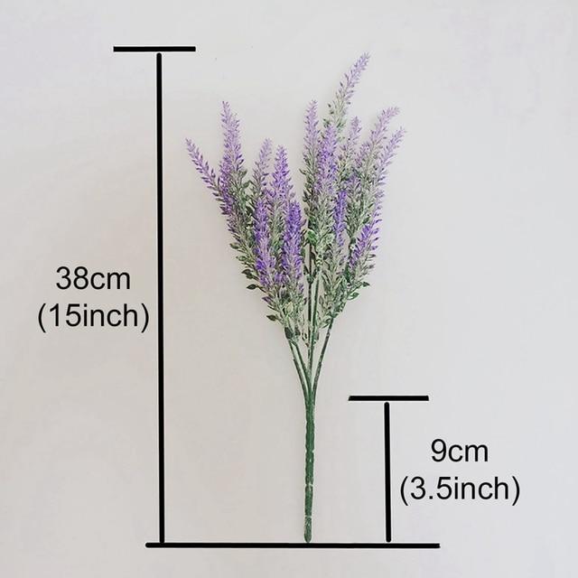1 bouquet Provence Lavender Artificial Flowers High Quality Flower For Home Decor Grain Decorative Fake Plant silk flowers 6