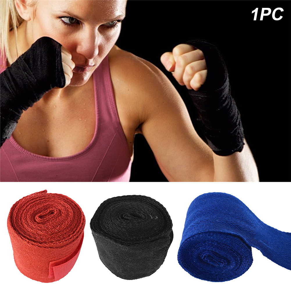 2.5m Sweat Absorption Cohesive First Aid Hand Protection Professional Boxing Bandage Sports Wrap Wrist Stretch Tape Elastic