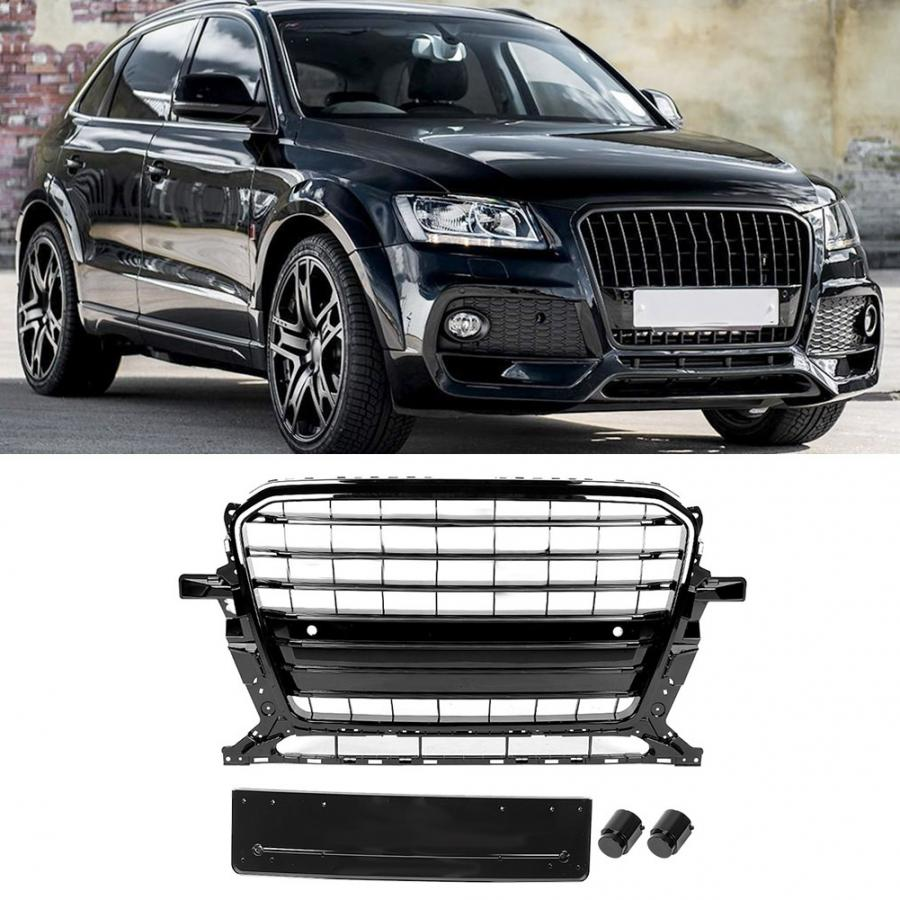 Car Front Grille For <font><b>SQ5</b></font> Style Car Front Bumper Mesh Grille <font><b>Grill</b></font> Fit for <font><b>Audi</b></font> Q5 8R 2013 2014 2015 2016 2017 Bumper Grille image