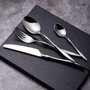 24Pcs/set Luxury Silver Cutler