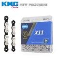Kmc x11 x11.93 corrente da bicicleta 116l 11 velocidade corrente com caixa original e botão mágico para mtb/estrada shimano