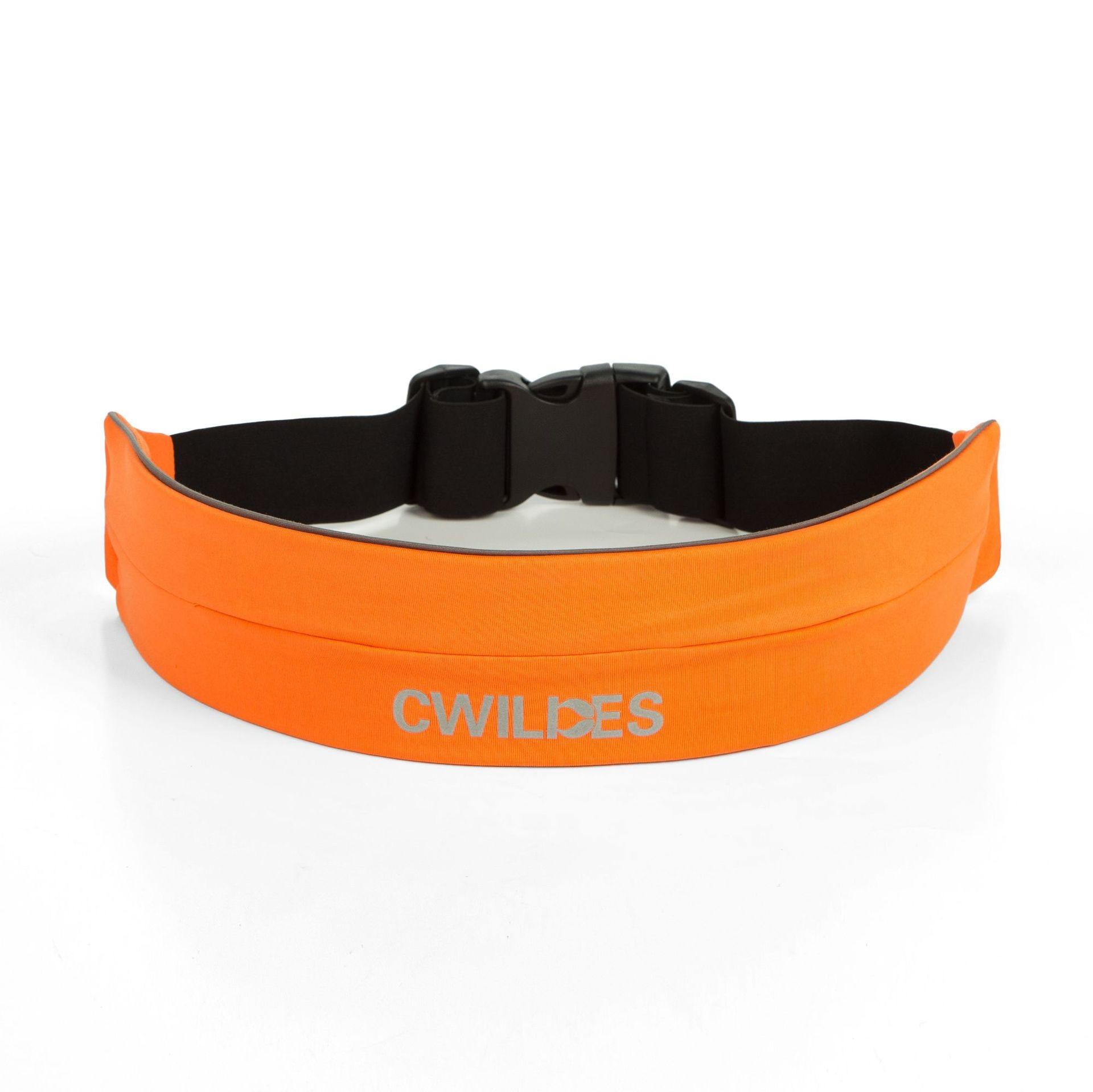 Cwilkes Outdoor Elasticity Sports Waist Pack Fitness Running Belt Riding Buckle Anti-Theft Waterproof Phone Bag