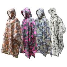 купить Camouflage Raincoat Backpack Rain Cover Rain Coat Hood Hiking Cycling Rain Cover Poncho Waterproof Tent Outdoor Camping Tent Mat дешево