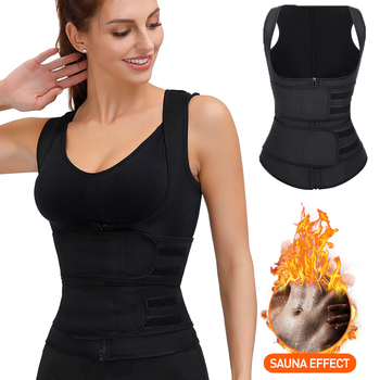 Women Waist Trainer Neoprene Belt Weight Loss Cincher Body Shaper Vest Tummy Control Sports Slimming Sweat Fat Burning Girdle
