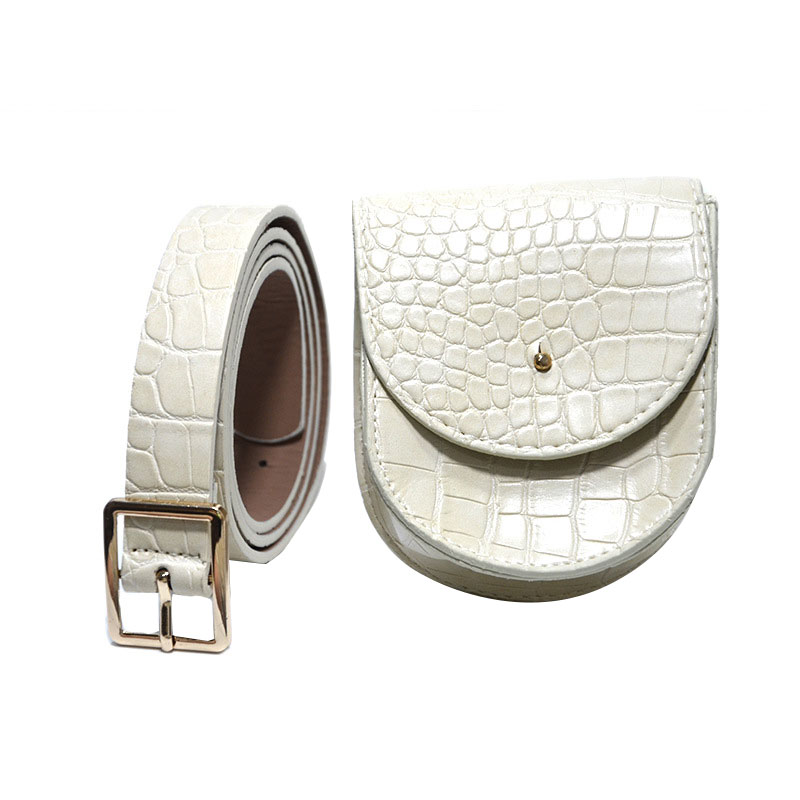 Fashion Women Leather Fanny Pack Fashion Travel Cell Phone Bag Removable Belt With Waist Pouch New