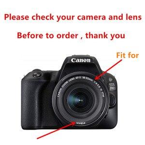 Image 2 - Uv Filter + EW63 Zonnekap + Cap + 2x Glas Screen Protector Voor Canon Eos 200D Mark Ii 250D rebel SL2 SL3 18 55 Mm Lens