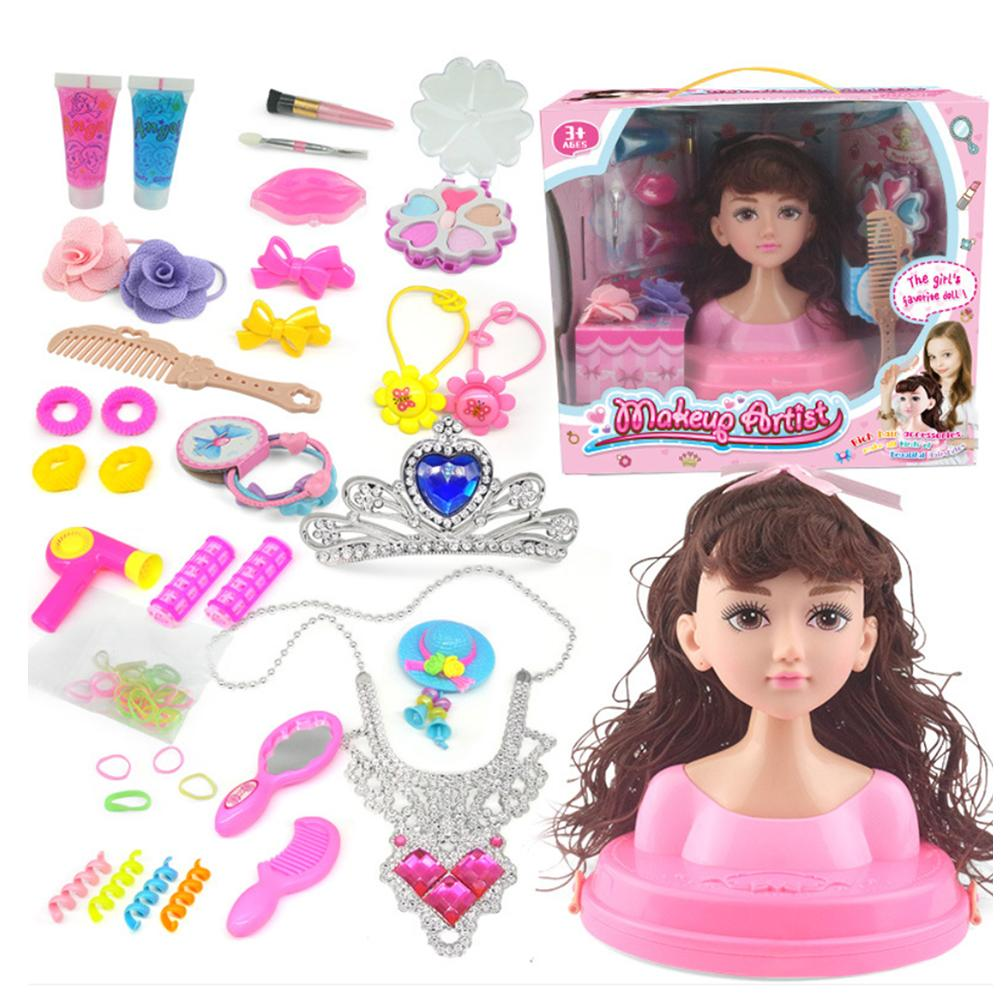 Children's Dressing Makeup Doll Girls Dressing Combs Pretend Play Toys With Luxury Packaging Box Kids Makeup Speelgoed