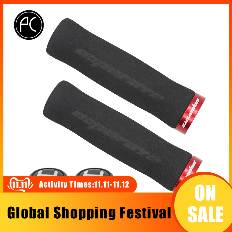 PCycling Arc Cycling Ergonomic Lockable Handle Grips For Bicycle MTB Road Folding Bike Soft Comfortable NonSlip Sponge Foam Grip