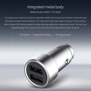 Image 3 - Xiaomi Car Charger QC 3.0 Dual USB Quick Charge 5V/3A 9V/2A Mi Car Charger For Android iOS For iPhone Mobile Phone