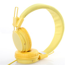 Kids Headphones with Mic Stereo Sound Wired Headphones Adjus