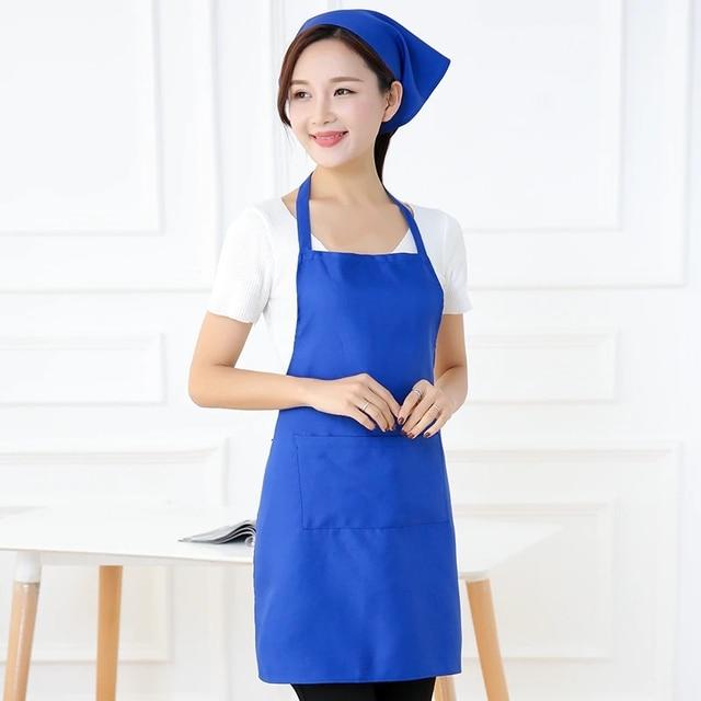Colorful Cooking Apron Thicken Cotton Sleeveless Chef Clothes Bib Anti-wear Kitchen Salon Bake Universal Apron Household Tool 6