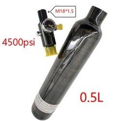 Pcp воздушный пистолет цилиндр 4500Psi 0.5L M18 * 1,5 черный углеродный волоконный резервуар для подводной охоты подводная мини-Дайвинг-Танк Acecare