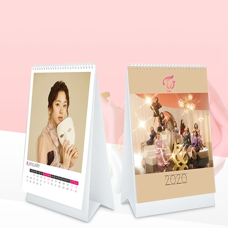 Kpop TWICE 2020 Desk Calendar Fashion K-POP Calendar Fans Collection Gifts Drop Shipping