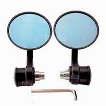 Motorcycle Handlebar Bar End Mirrors Rearview Mirror Universal 7/8
