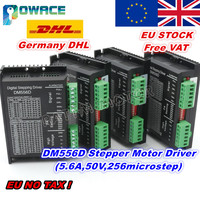 [EU Delivery&Free VAT] 4Pcs DM556D Stepper Motor Digital Driver DC 24 50V 5.6A High performance for CNC Router