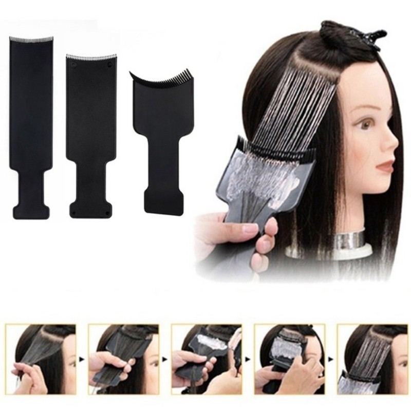 1PC Black Professional Plastic Salon Hair Coloring Dyeing Board Plate For Barber Hairdresser title=