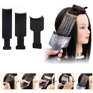 Image 1 - Plaque de coloration pour Salon de coiffure, en plastique professionnel noir, plaque de coloration pour coiffeur, accessoires de coiffure, outils de coiffure, 1 pièce